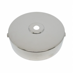 S.Lilley & Son D580N 100mm Single Hole Nickel Ceiling Plate