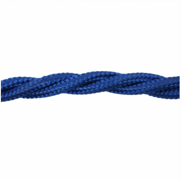Love4Lighting CABTRE31075 1m Length of Blue Braided Cable