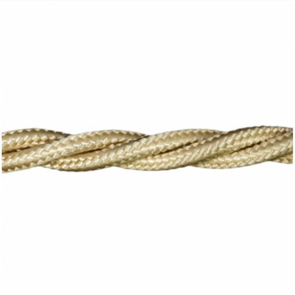 Love4Lighting CABTRE31012 1m Length of Sand Braided Cable