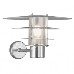 Nordlux 2118051031 35 E27 Outdoor Wall Light in Galvanized