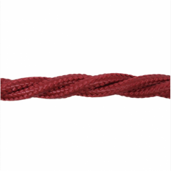 Love4Lighting CABTRE31008 1m Length of Burgundy Braided Cable