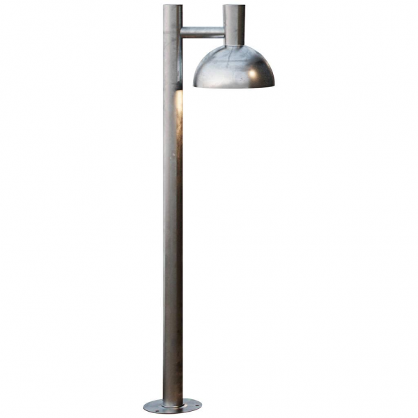 Nordlux 2118108031 Arki 100 Outdoor E27 Pillar Light in Galvanized