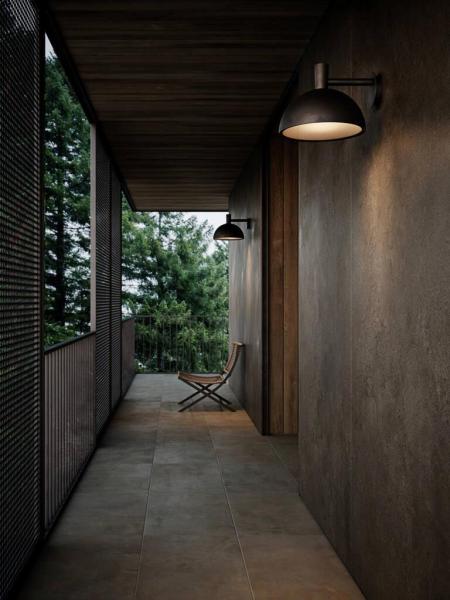 Nordlux 2118111031 Arki 35 E27 Outdoor Wall Light in Galvanized