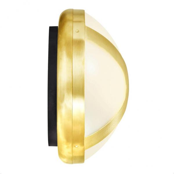 Nordlux 2118131035 Cross 25 E27 Outdoor Wall Light in Brass