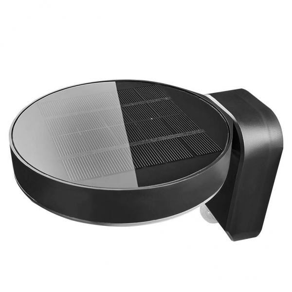 Nordlux 2118141003 Rica Round Solar LED Wall Light in Black