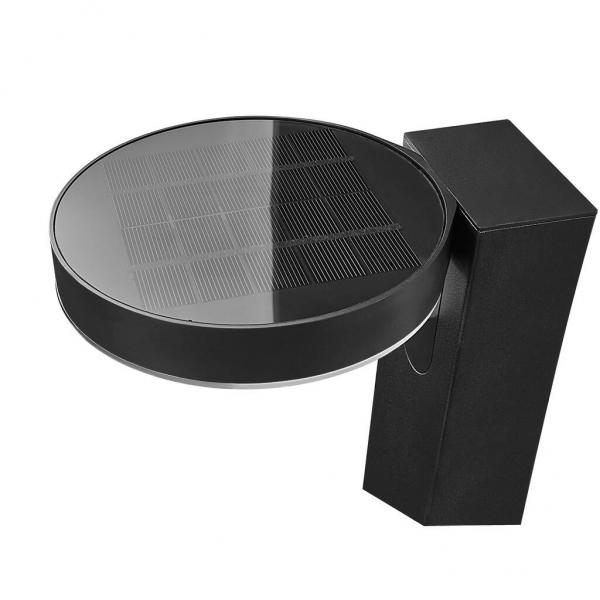 Nordlux 2118158003 Rica Round Solar LED Pillar Light in Black