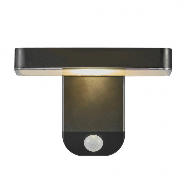 Nordlux 2118161003 Rica Square Solar LED Wall Light in Black