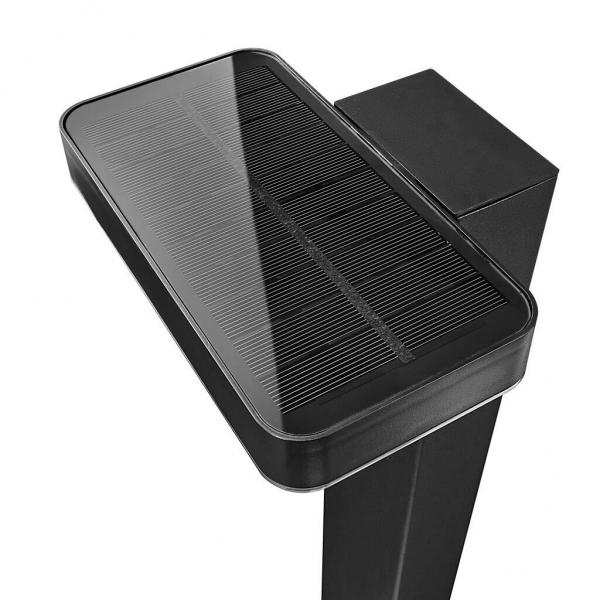 Nordlux 2118178003 Rica Square Solar LED Pilar Light in Black