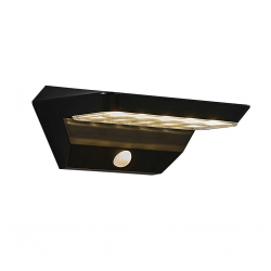 Nordlux 2118221003 Agena Solar LED Outdoor Wall Light in Black