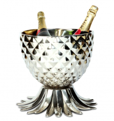 Culinary Concepts PNL-6117 Pineapple Wine Cooler - Silver Finish