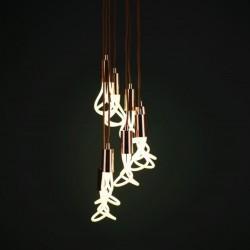 Plumen 8 Way Brass Drop Cap Chandelier with 001 Bulbs