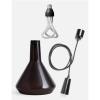 Plumen DCBTP Black Drop Cap Top Glass 001 Pendant Set