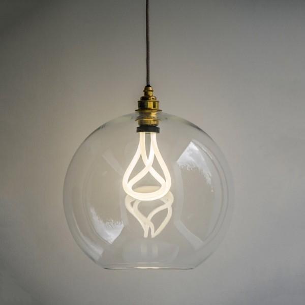 Plumen 1803011101 Hereford Large Globe Pendant Light With Plumen 001 LED Light Bulb