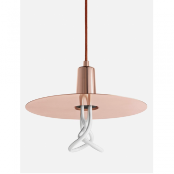Plumen DCHLP Drop Copper Hat Lamp Shade Set With Plumen 001 Bulb