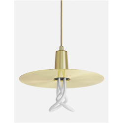 Plumen DHBLS Drop Hat Brass Lamp Shade With Plumen 001 Bulb