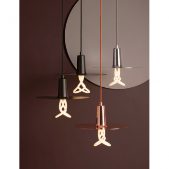 Plumen DHBLS Drop Hat Black Lamp Shade Set With Plumen 001 Bulb