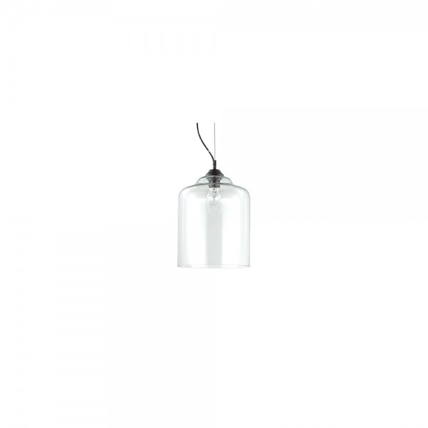Ideal Lux 112305 BISTRO' SP1 Square Glass Pendant