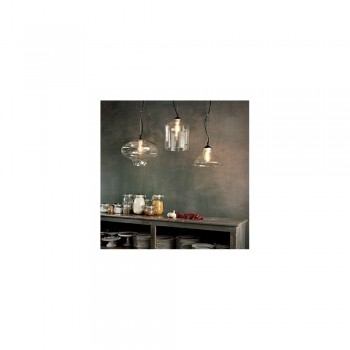 Ideal Lux 112305 BISTRO' SP1 Square Glass Pendant