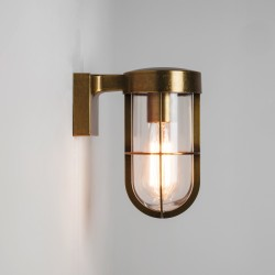 Astro Lighting 1368003 Antique Brass Cabin Wall Light