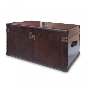 Culinary Concepts CC-2166-CIGAR Panama Cigar Leather Travelling Trunk with Copper