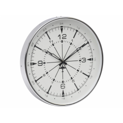 Libra 700337 Small Nickel Aviator Wall Clock