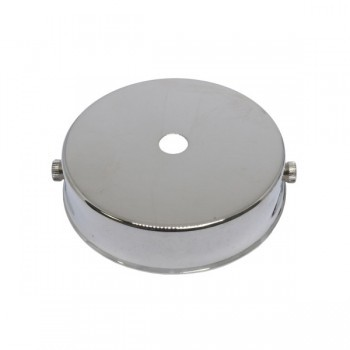 S.Lilley & Son Q040N 80mm Single Hole Nickel Ceiling Plate
