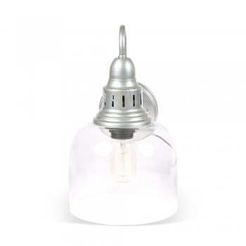Culinary Concepts LX-2133-WM-SLV Whitechapel Wall Mounted Light in Dull Chrome