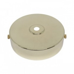 S. Lilley & Son D580P 100mm Single Hole Polished Brass Ceiling Plate