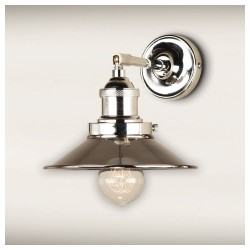 Culinary Concepts STNK-MSML-NKL Polished Nickel Straight Fitment With Small Polished Nickel Metal Triangular Shade