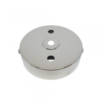 S. Lilley & Son D580/2N 100mm Three Hole Nickel Ceiling Plate