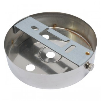 S. Lilley & Son D580/3N 100mm Four Hole Nickel Ceiling Plate