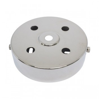 S. Lilley & Son D580/4N 100mm Five Hole Nickel Ceiling Plate
