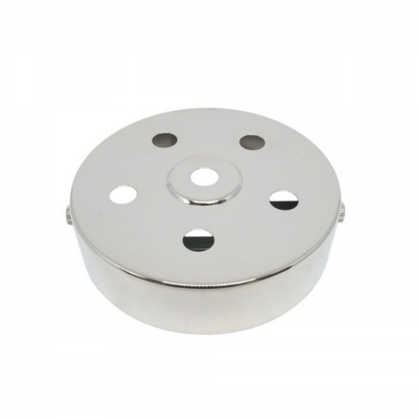S. Lilley & Son D580/5N 100mm Six Hole Nickel Ceiling Plate