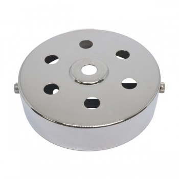 S. Lilley & Son D580/6N 100mm Seven Hole Nickel Ceiling Plate
