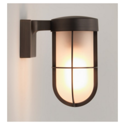 Astro Lighting 7849 Bronze Frosted Glass Cabin Wall Light