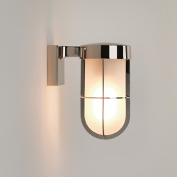 Astro 1368006 Polished Nickel Frosted Glass Cabin Wall Light