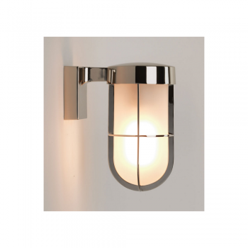 Astro Lighting 1368006 Polished Nickel Frosted Glass Cabin Wall Light