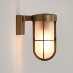 Astro 1368008 Antique Brass Frosted Glass Cabin Wall Light