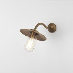 Astro Lighting 1341002 DAFNI Exterior Wall Light in Antique Brass