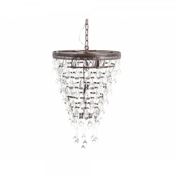 The Libra Company 036232 savona glass droplet chandelier