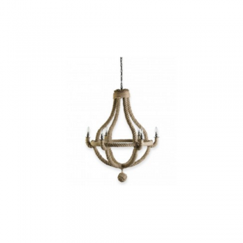 Culinary Concepts CC-CHAND-NR-MED Medium Natural Rope Chandelier