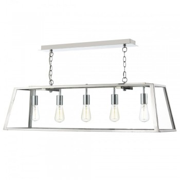 Dar Lighting ACA0544 Academy 5-Light Pendant Stainless Steel
