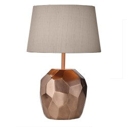 Dar Lighting SHA4264 Shard Table Lamp Base Lustre Copper
