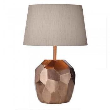 Dar Lighting SHA4264 Shard Table Lamp Base Lustre Copper