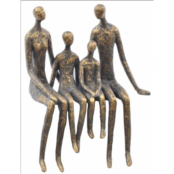 Libra 700616 sitting family of four shelf sculpture