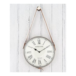 Pacific Lifestyle 75-001 Nickel and Leather Hanging Wall Clock