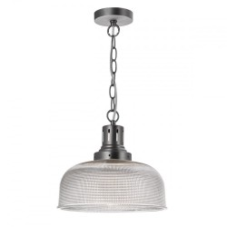 Dar TAC0161 Tack 1 Light Glass Industrial Pendant
