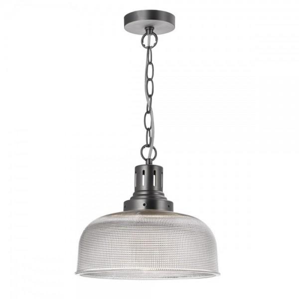 Dar TAC0161 Tack 1 Light Glass Industrial Pendant