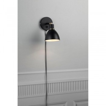 Nordlux 63191003 RAY Black Metal Wall Light