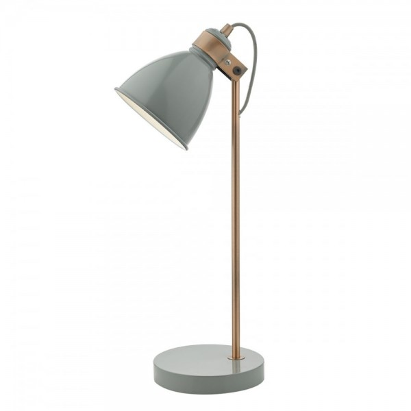 Dar Lighting FRE4239 FREDERICK Gloss Grey and Copper